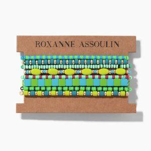 Roxanne Assoulin Green Bracelet Set